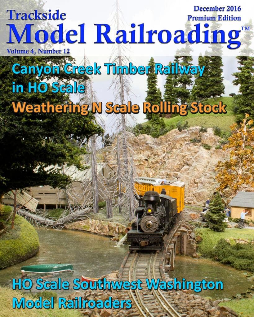 Trackside Model Railroading Digital Magazine December 2016 Cover