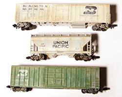 Quick and Easy Weathering of N Scale Model Train Cars