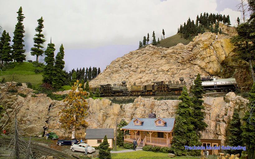 Trackside Model Railroading Canyon Creek Timber Railway in HO Scale