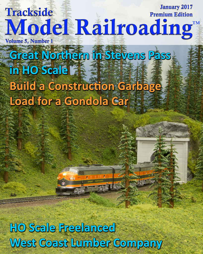 Trackside Model Railroading Digital Magazine January 2017 Cover