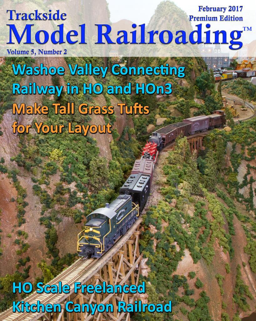 Trackside Model Railroading Digital Magazine February 2017 Cover
