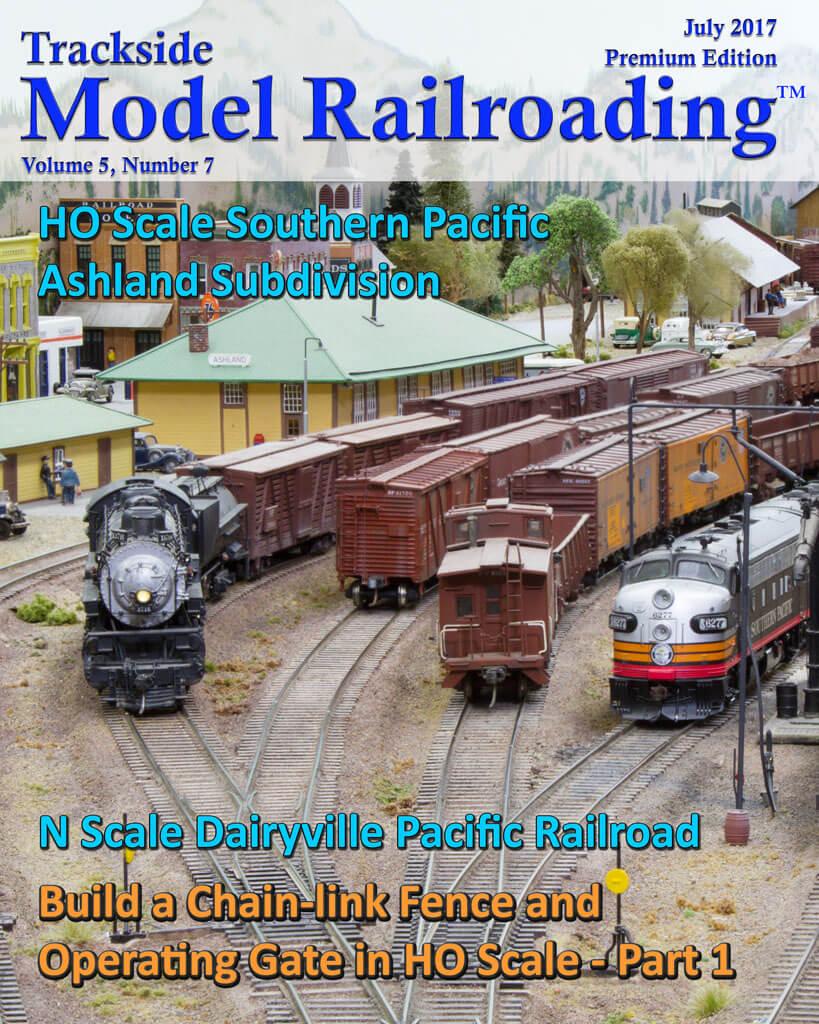Trackside Model Railroading Digital Magazine July 2017 Cover