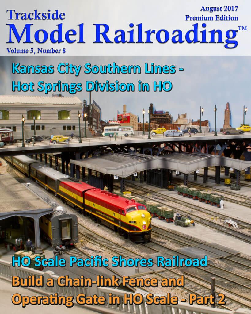 Trackside Model Railroading Digital Magazine August 2017 Cover