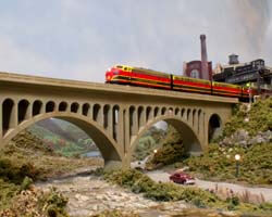 Trackside Model Railroading HO scale KCS layout is centered around the Union Station in Kansas City, Missouri
