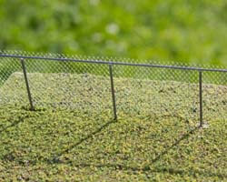 Build an easy to make do-it yourself metal cyclone fence in HO Scale