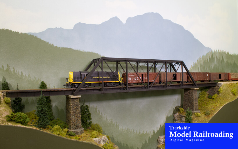 Trackside Model Railroading Steven Shores' HO scale Northern Pacific's Pacific Shores railroad based in the Pacific Northwest