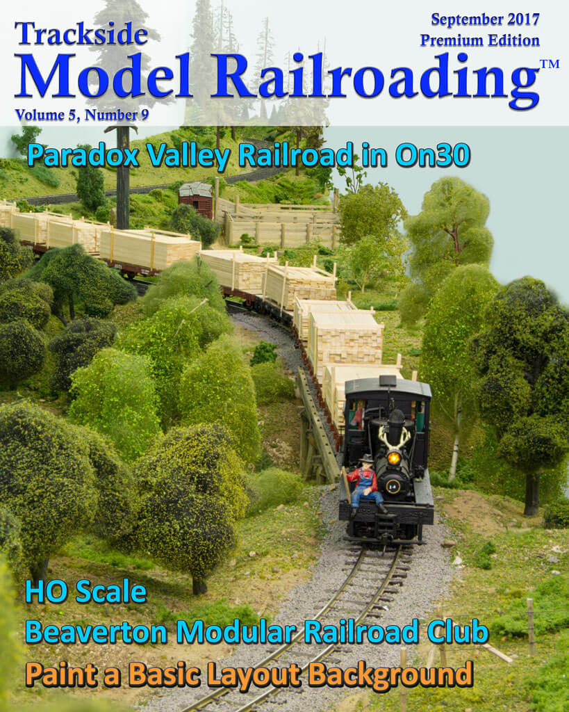 Trackside Model Railroading Digital Magazine September 2017 Cover