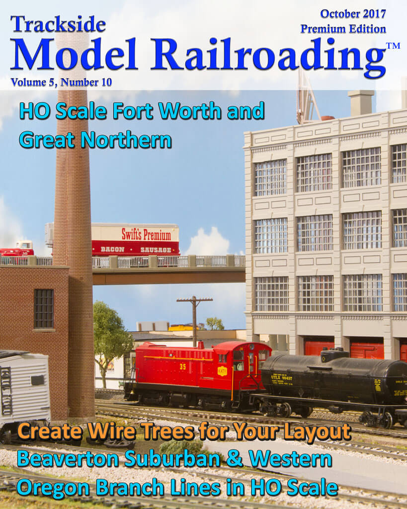 Trackside Model Railroading Digital Magazine October 2017 Cover