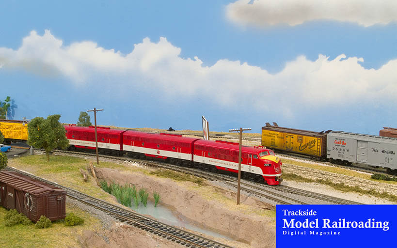 Trackside Model Railroading Clint Brown's Fort Worth and Great Northern Railroad i HO