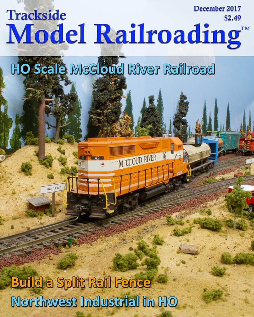Trackside Model Railroading Digital Magazine December 2017 Cover