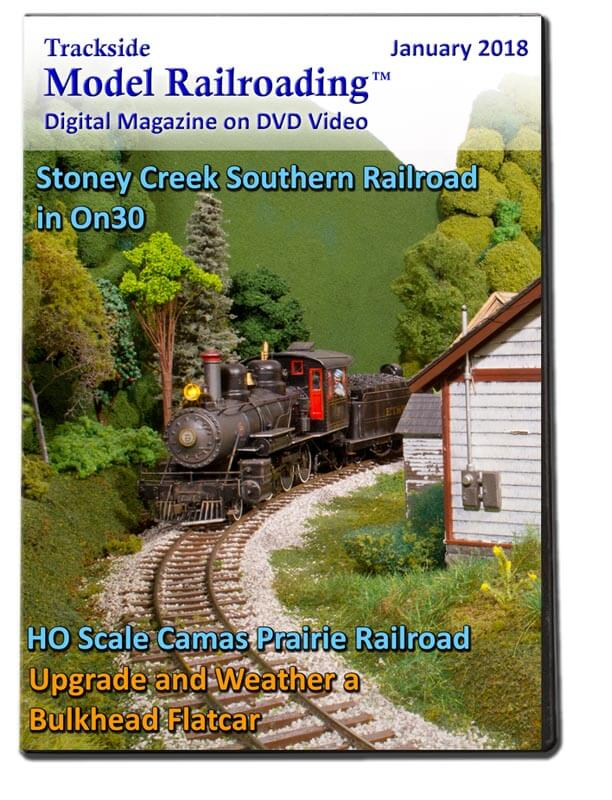 Trackside Model Railroading on DVD featuring the followings: A WWII-era northeastern Tennessee on Lee Bishop's Stoney Creek Southern Railroad. and the Camas Prairie Railroad operated in northern Idaho and was jointly owned by the Union Pacific and Northern Pacific Railroads.