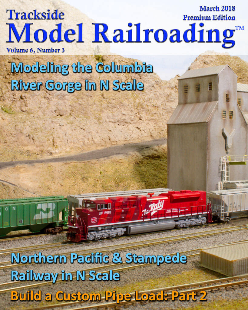 Trackside Model Railroading Digital Magazine March 2018 Cover