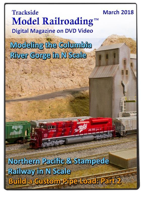 Trackside Model Railroading on DVD featuring the following: The Columbia River Gorge and Northern Pacific & Stampede Railway both in N scale.