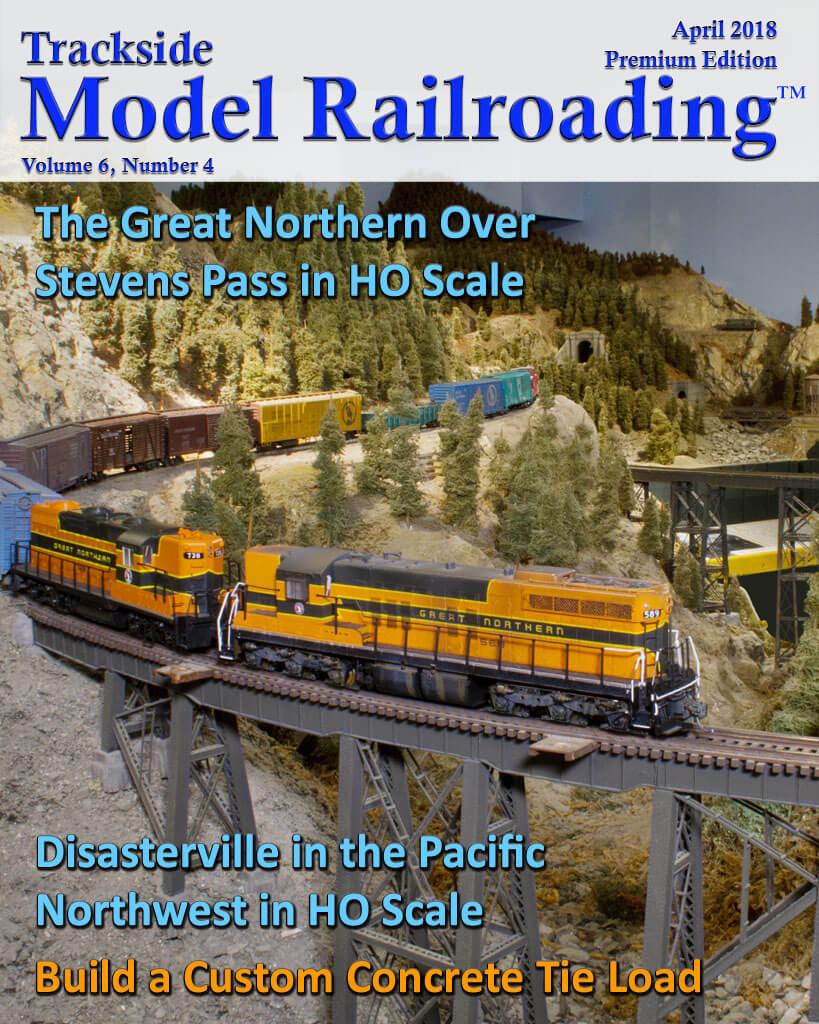 Trackside Model Railroading Digital Magazine April 2018 Cover