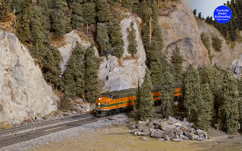 Trackside Model Railroading Great Northern Cascade Modelers in HO Scale.