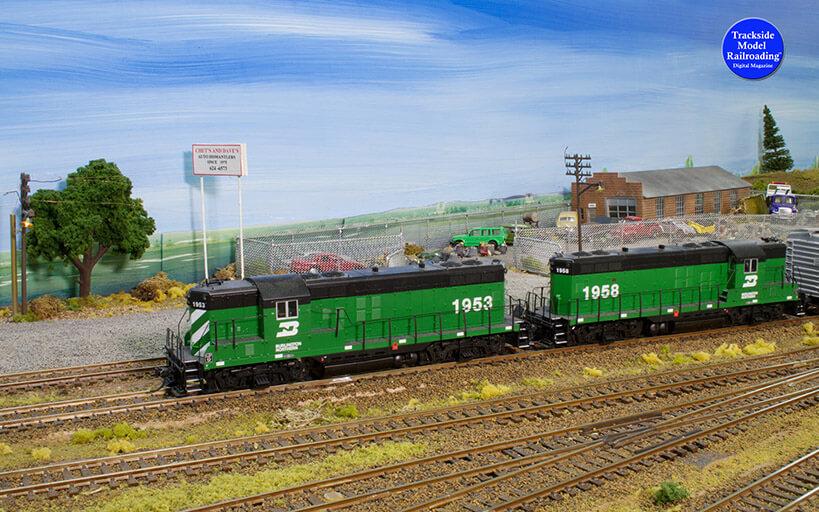 Trackside Model Railroading Disasterville in HO Scale.