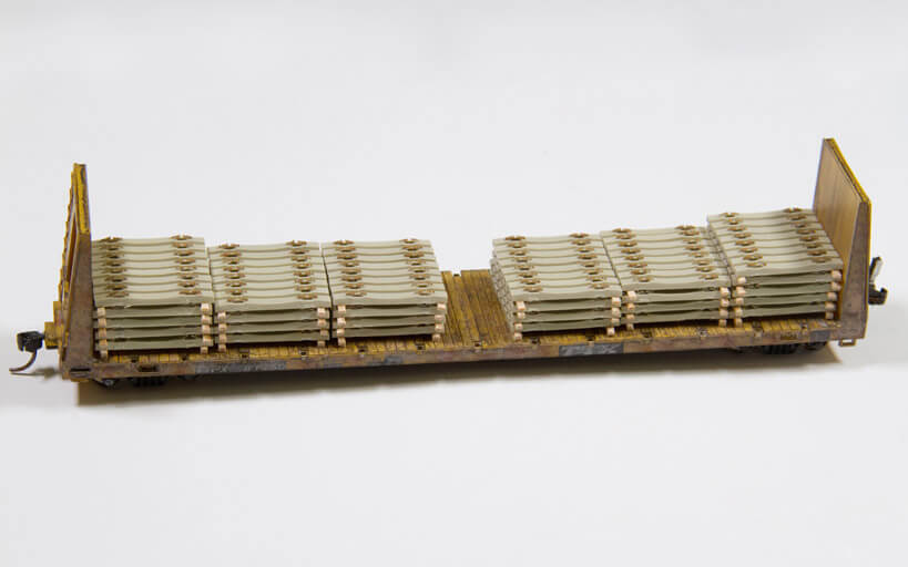 Trackside Model Railroading, Build a Custom Concrete Tie Load
