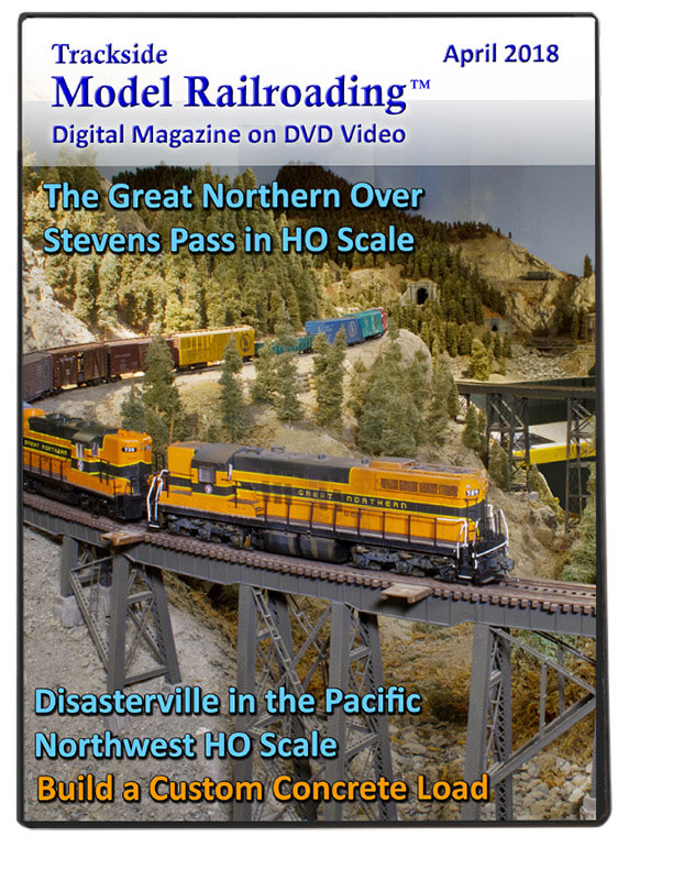 Trackside Model Railroading on DVD featuring the following: The Columbia River Club and Mike McGee's Northern Pacific and Stampede Railway in N Scale.