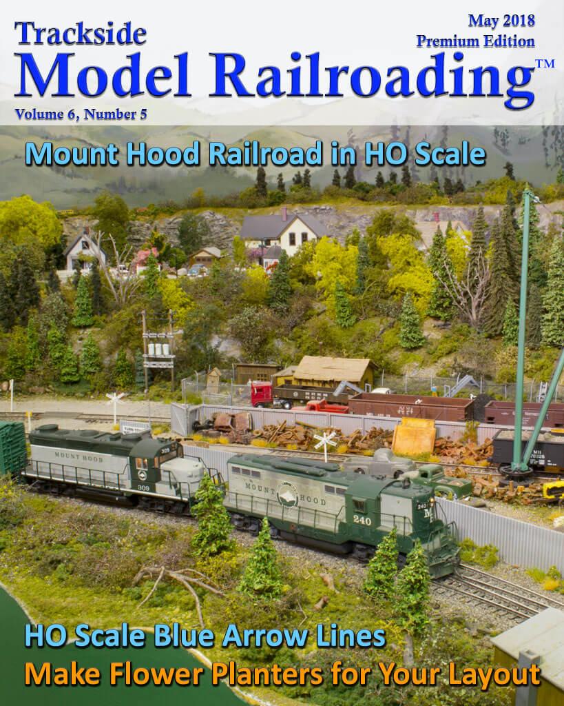 Trackside Model Railroading Digital Magazine May 2018 Cover