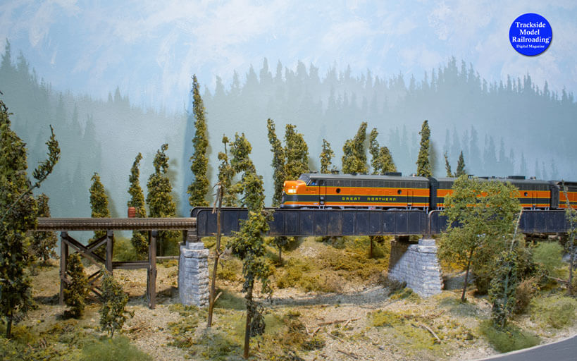 Trackside Model Railroading Port Columbia And Eastern Railroad in HO Scale.