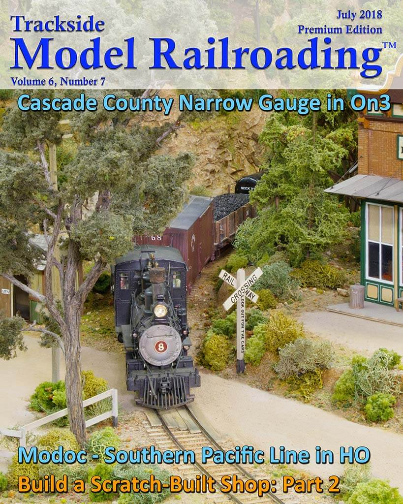 Trackside Model Railroading Digital Magazine July 2018 Cover
