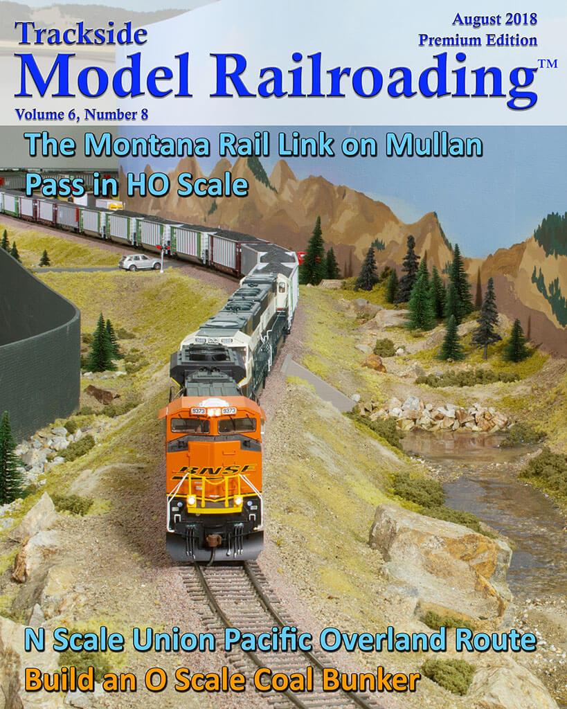 Trackside Model Railroading Digital Magazine August 2018 Cover