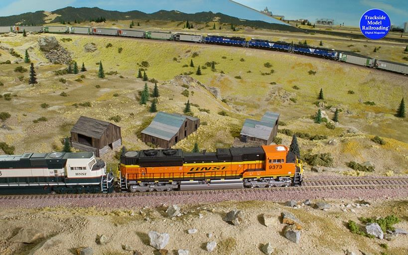 Trackside Model Railroading The Montana Rail Link on Mullan Pass in HO.