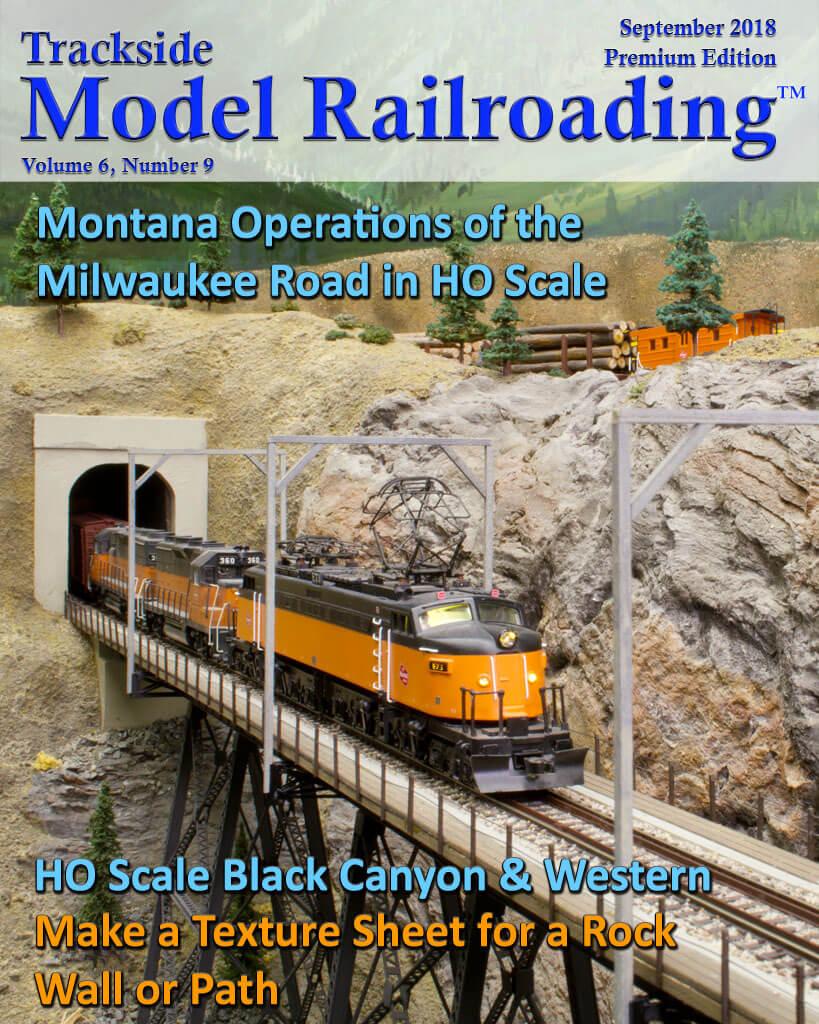 Trackside Model Railroading Digital Magazine September 2018 Cover