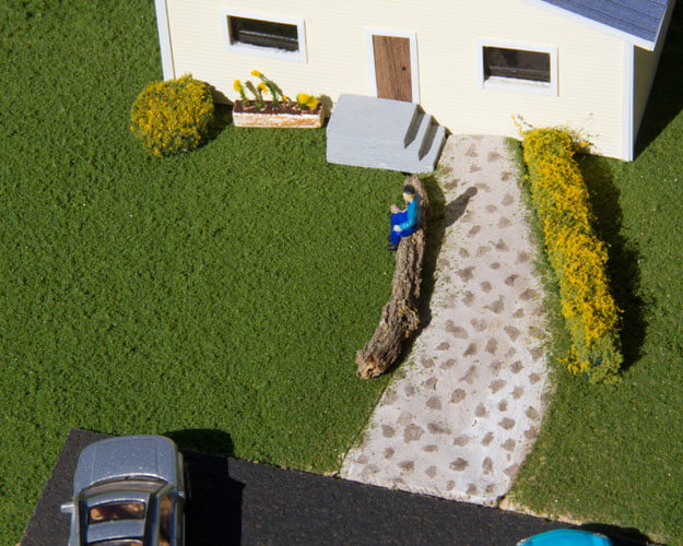 Make a rock path for Your Layout