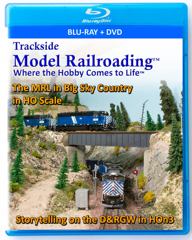 Trackside Model Railroading on DVD featuring the following: Rogue Valley Model Railroad Club's Pacific & Eastern Railroad and Richard Hutter's Ohadi Street Railway & Western