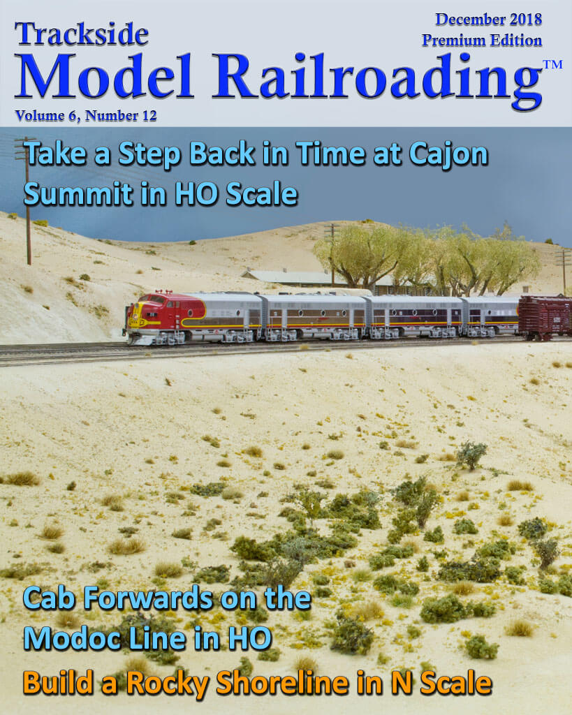 Trackside Model Railroading Digital Magazine December 2018 Cover