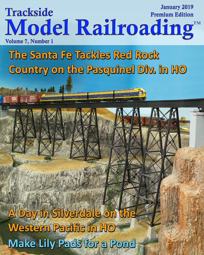 Trackside Model Railroading Digital Magazine January 2019 Cover