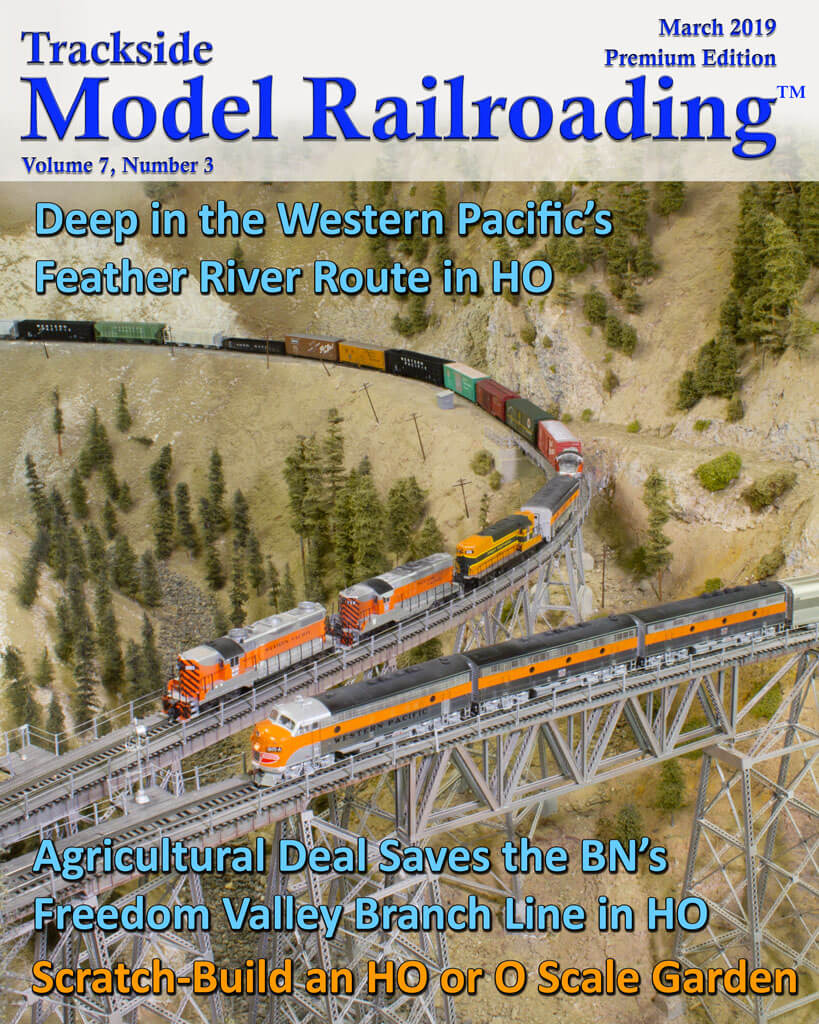 Trackside Model Railroading Digital Magazine March 2019 Cover