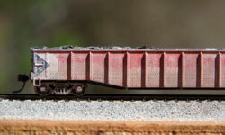 Weathered CP Rail Closeup Model Train 0598