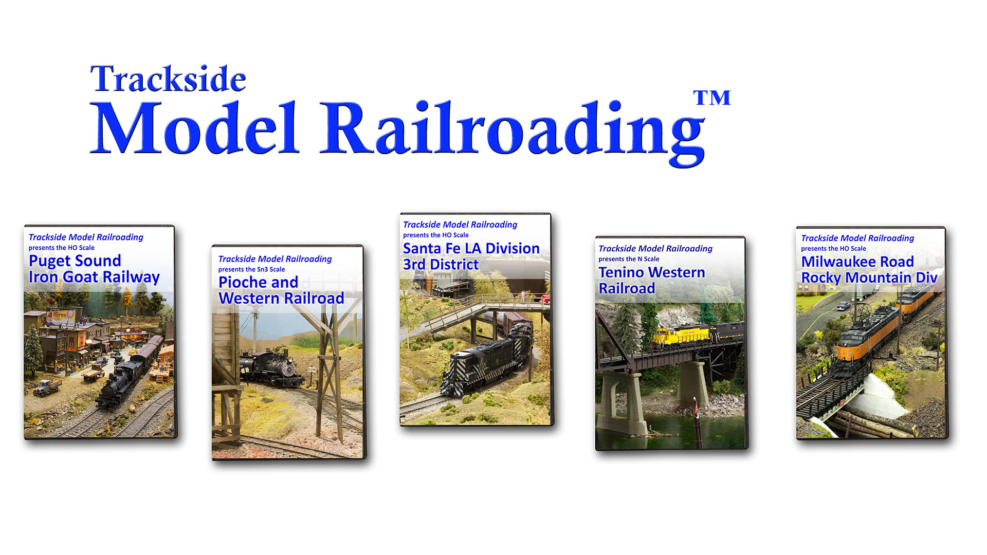 Trackside Model Railroading DVD and Blu-rays