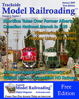 Model Railroad Magazine with an N scale MKT Alco on the Cover