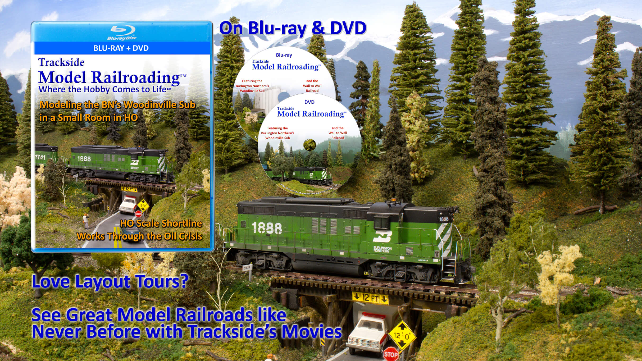 Burlington Northern Model Railroad Movie on Streaming and Blu-ray and DVD