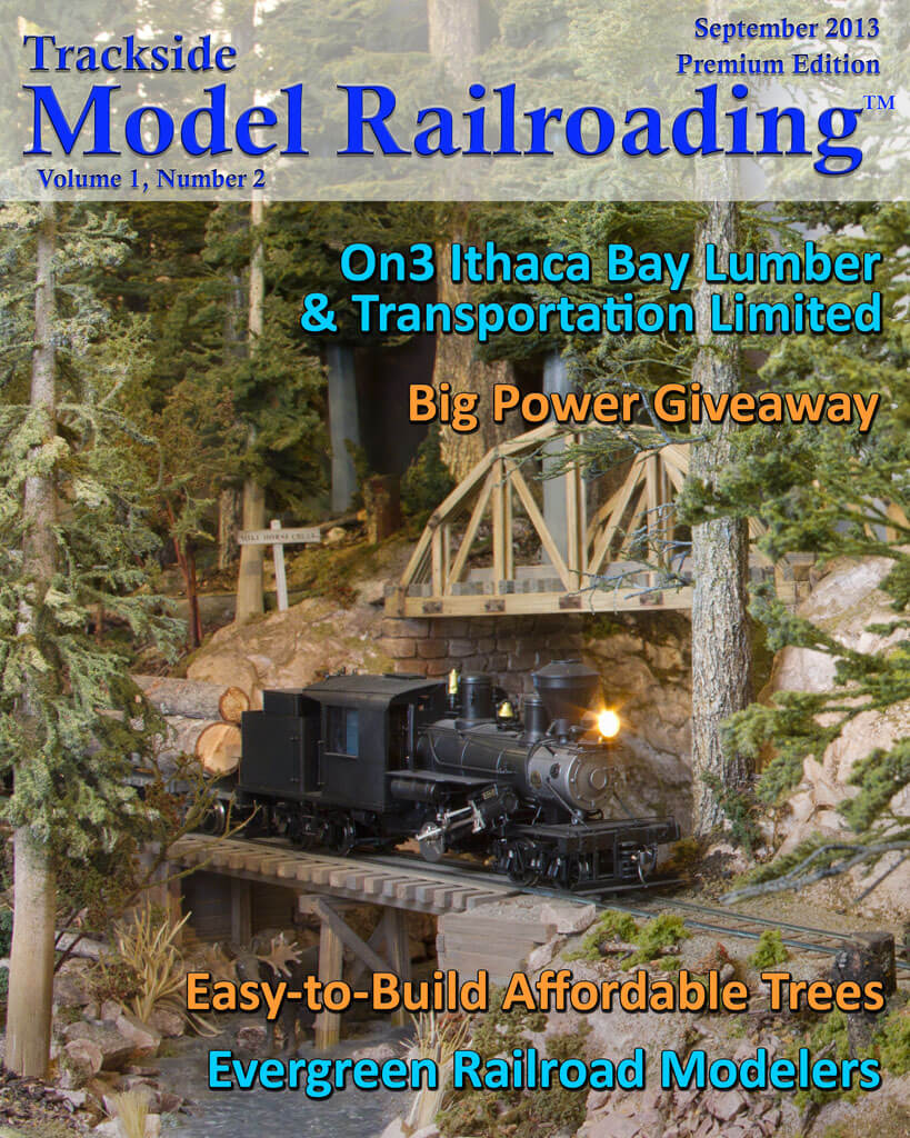 Trackside Model Railroading Digital Magazine September 2013 Cover