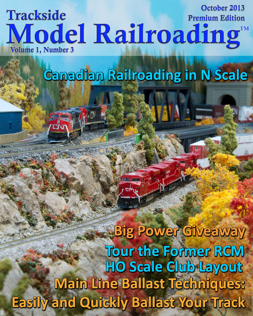 Trackside Model Railroading Digital Magazine October 2013 Cover