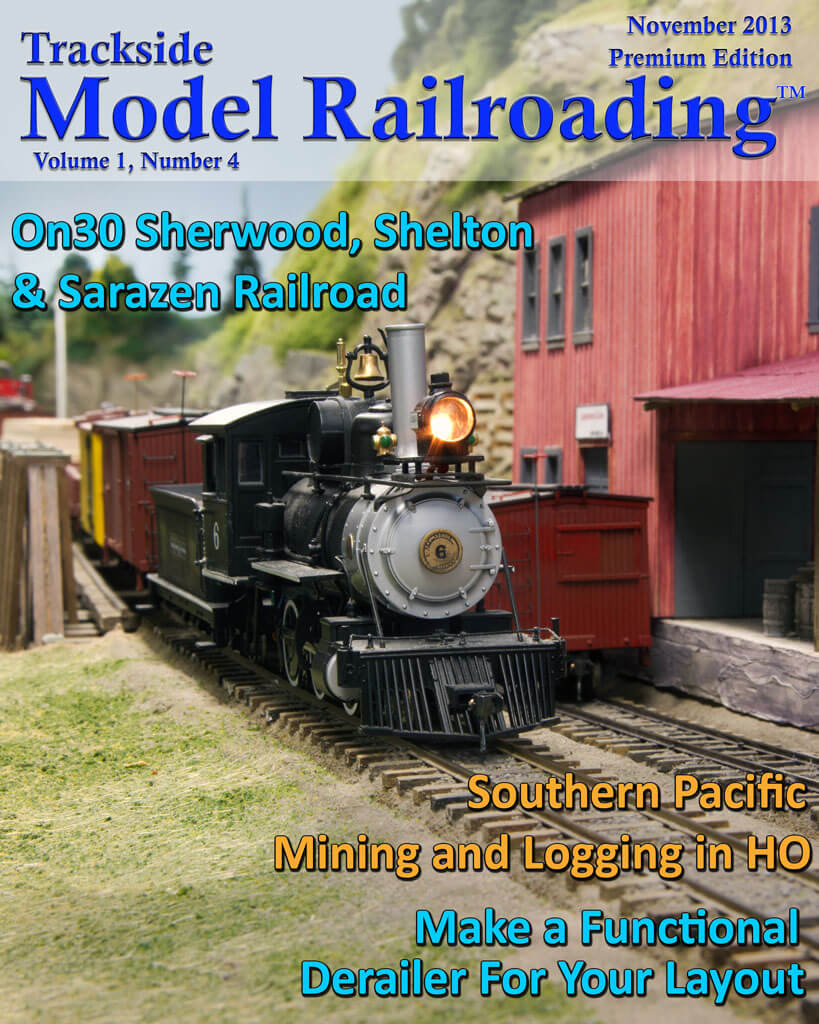 Trackside Model Railroading Digital Magazine November 2013 Cover