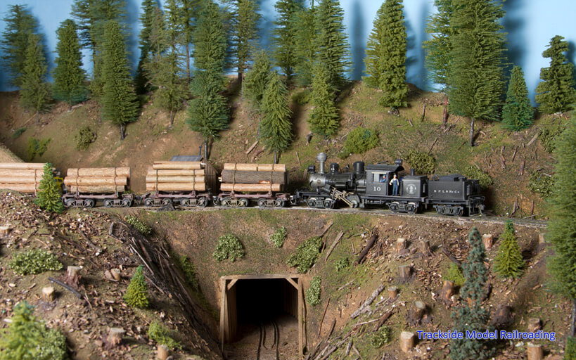 Trackside Model Railroading Chas Heimerdinger's HO Scale Southern Pacific Mining and Logging Railroad
