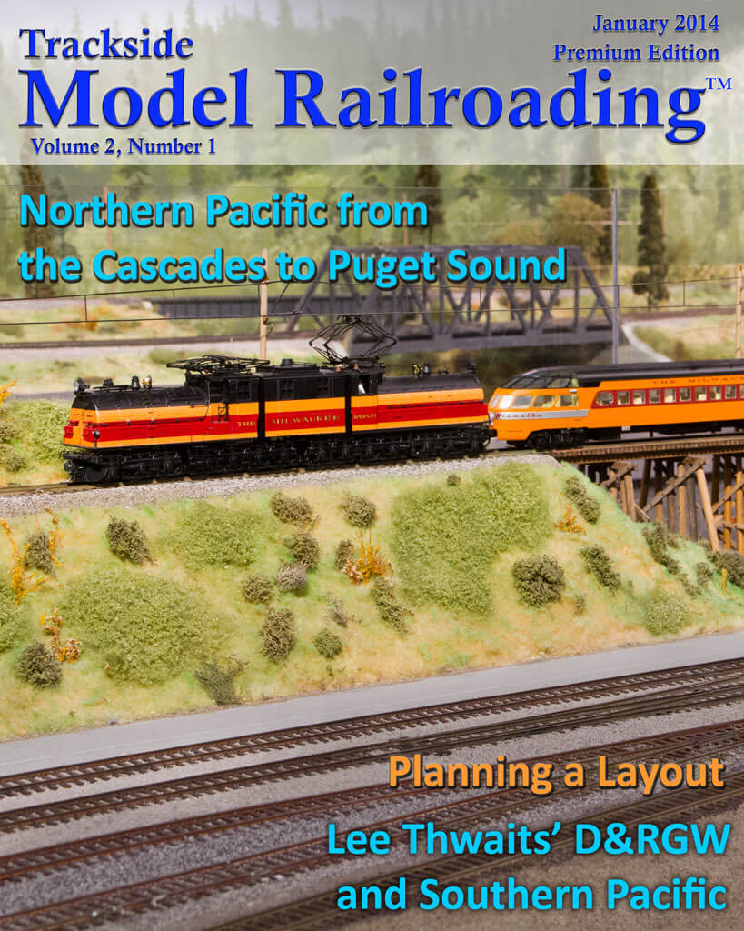 Trackside Model Railroading Digital Magazine January 2014 Cover