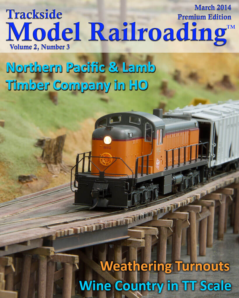Trackside Model Railroading Digital Magazine March 2014 Cover