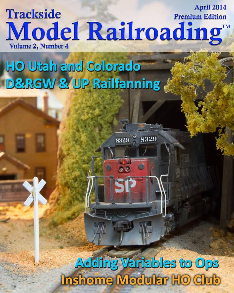 Trackside Model Railroading Digital Magazine April 2014 Cover