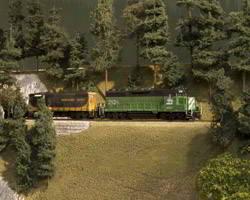 Trackside Model Railroading HO scale Burr-lington Northern