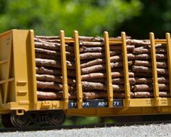 Build a Pulpwood Flatcar Load for Your Model Railroad