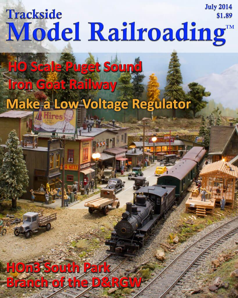 Trackside Model Railroading Digital Magazine July 2014 Cover