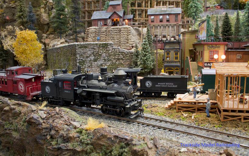 Trackside Model Railroading JJ Johnston's HO Scale Puget Sound Iron Goat Railway