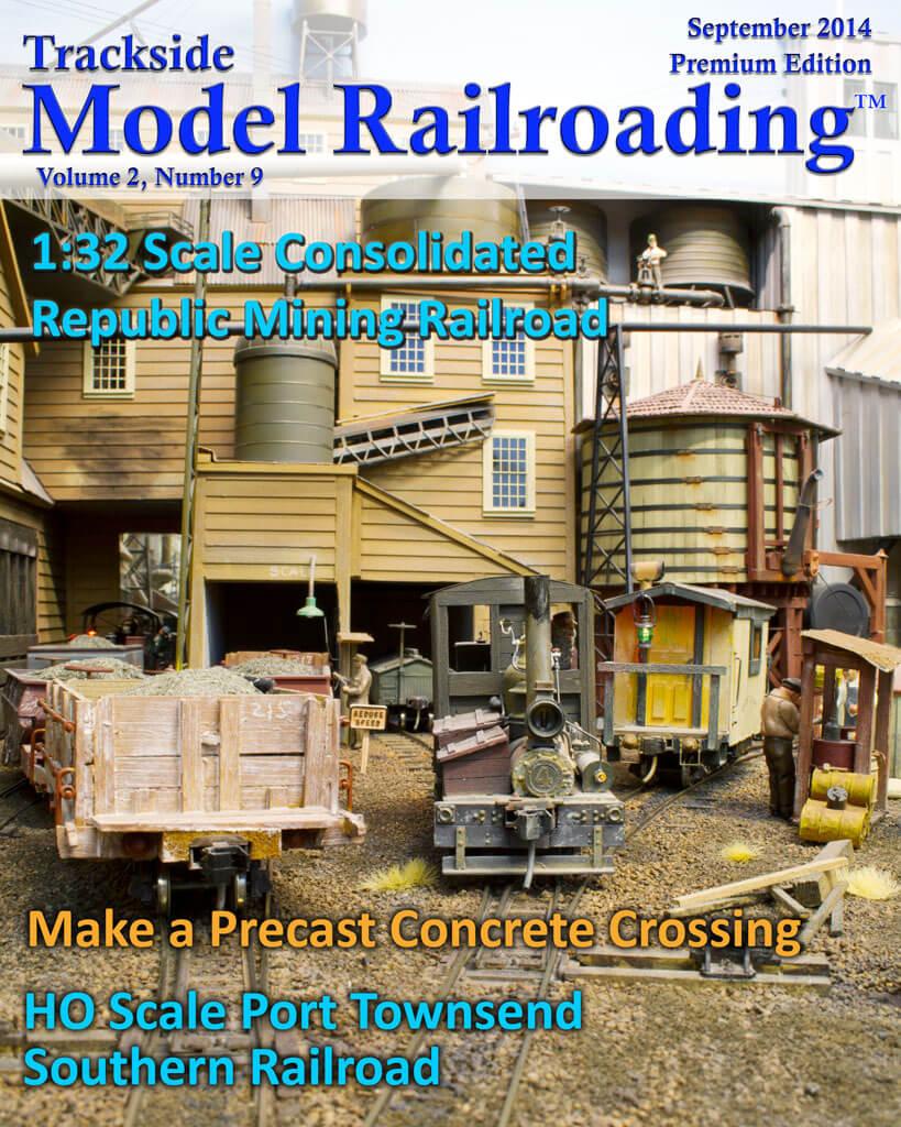 Trackside Model Railroading Digital Magazine September 2014 Cover