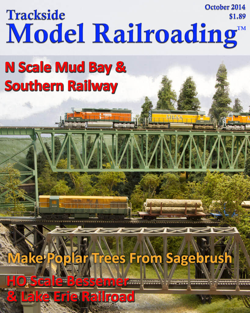 Trackside Model Railroading Digital Magazine October 2014 Cover